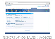 Export MYOB Sales Invoices
